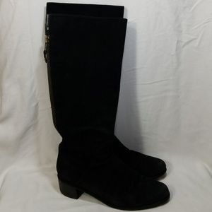 Stuart Weitzman Black Suede Over The Knee Boots 8